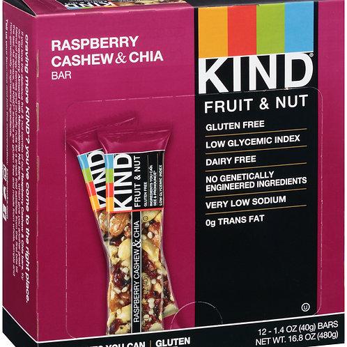 Kind Raspberry Cashew & Chia Bars 6/12ct 1.4oz
