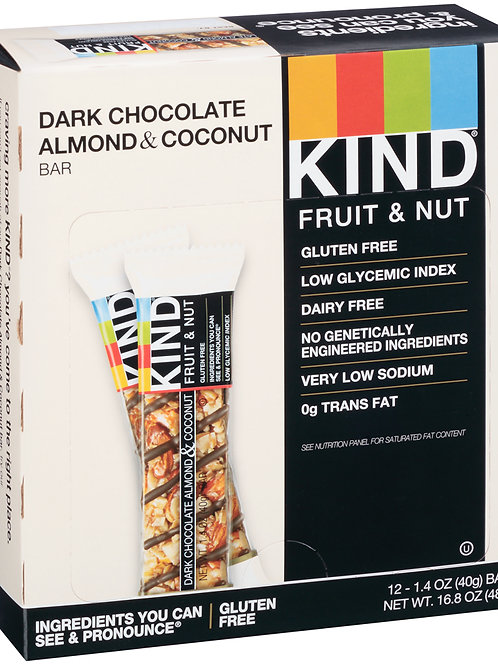 Kind Dark Chocolate Almond & Coconut Bars 6/12ct 1.4oz