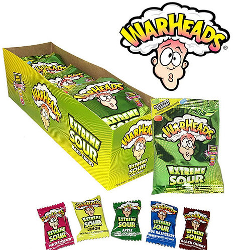 Warheads Extreme Sour Candy Display 15/12