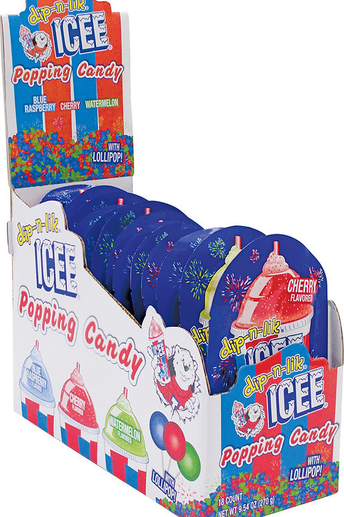 Koko Icee Popping Candy W/ Lollipop 6/18