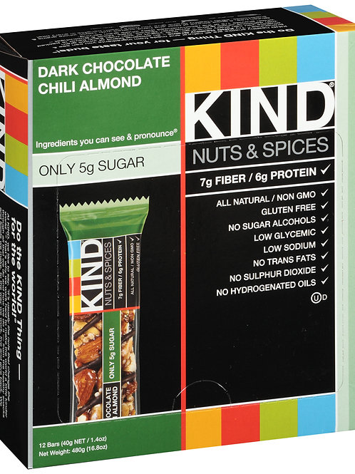 Kind Dark Chocolate Chili Almond Bars 6/12ct 1.4oz