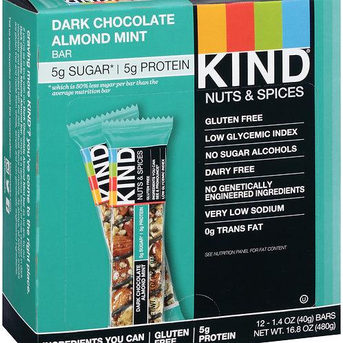 Kind Dark Chocolate Almond Mint Bars 6/12ct 1.4oz