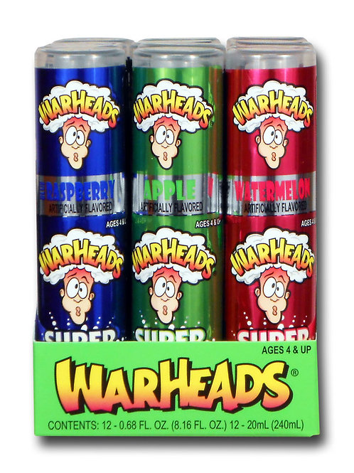 Warheads Super Sour Spray 24/12