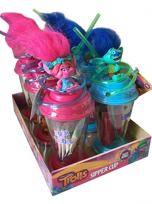 Hilco Trolls Sipper Cups W/ Taffy 4/6