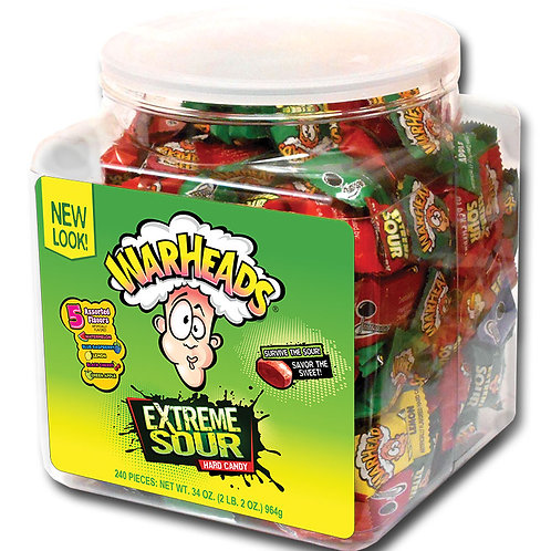 Warheads Extreme Sour Candy Jar 6/240