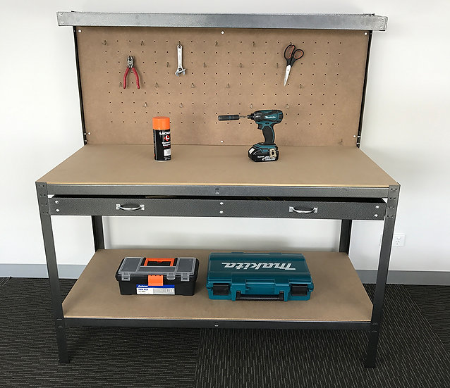 Steel Pegboard Workbench