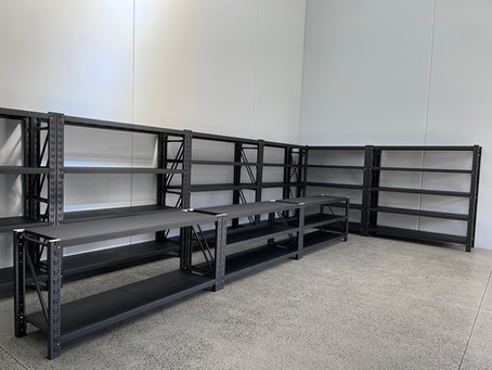 200x150x50cm Steel Warehouse Rack Storage Garage Shelving