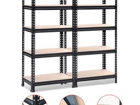 5-Tier Boltless Storage Shelves Rivet Rack Shelf