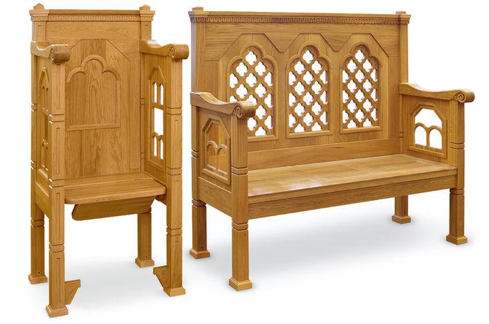 Спасо-Преображенский собор валаамского монастыря. Стасидии и скамья. Акантус Ателье