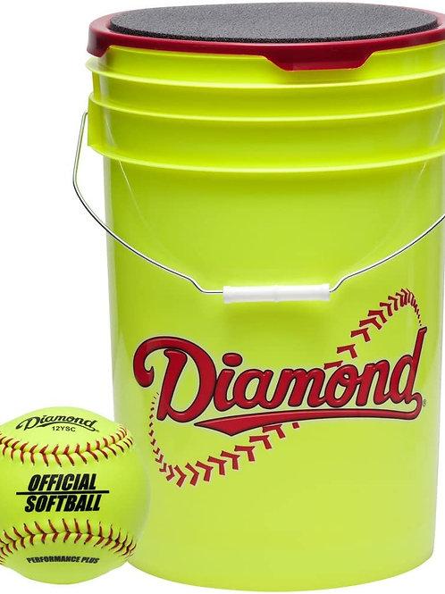 "Diamond Bucket with 12"" Softballs"