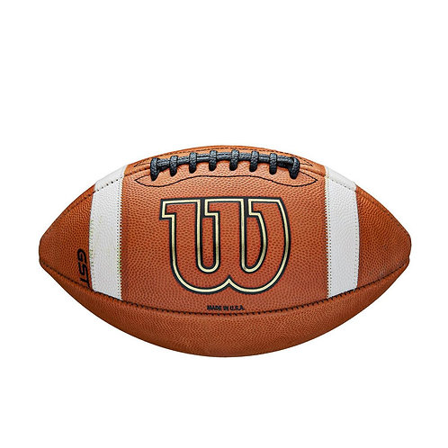 Wilson GST Leather Game Football