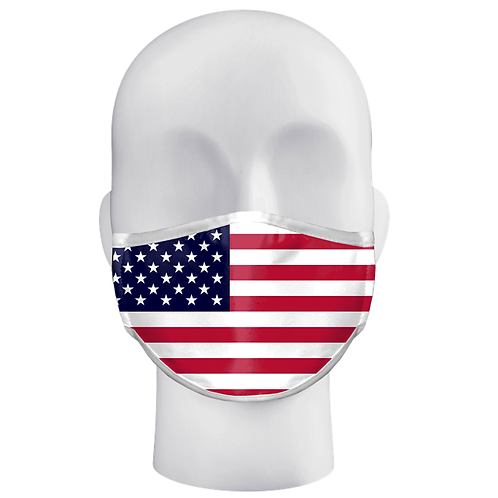 American Flag Three-layer Facemask