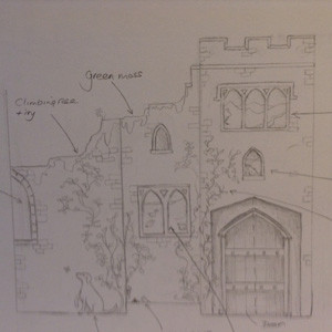 Initial sketch for the dragon room