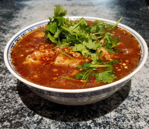 Shui Choo Niu Rou - Geschmorter Rindertopf übergossen mit heißem Chiliöl