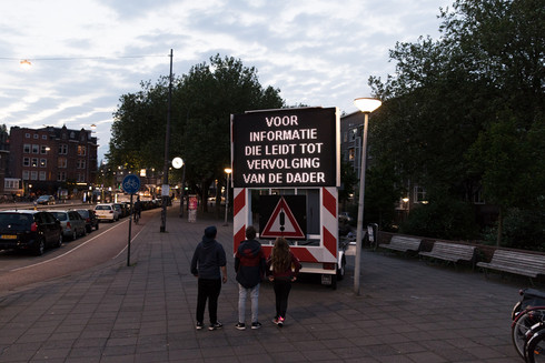 Local governments in the Netherlands as well as the police increasingly use big electronic signs in the streets to communicate with citizens.  They send out warnings, security calls and other police reports.