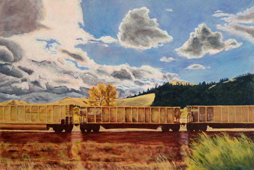 22 Yellow-train 40x60cm.jpg