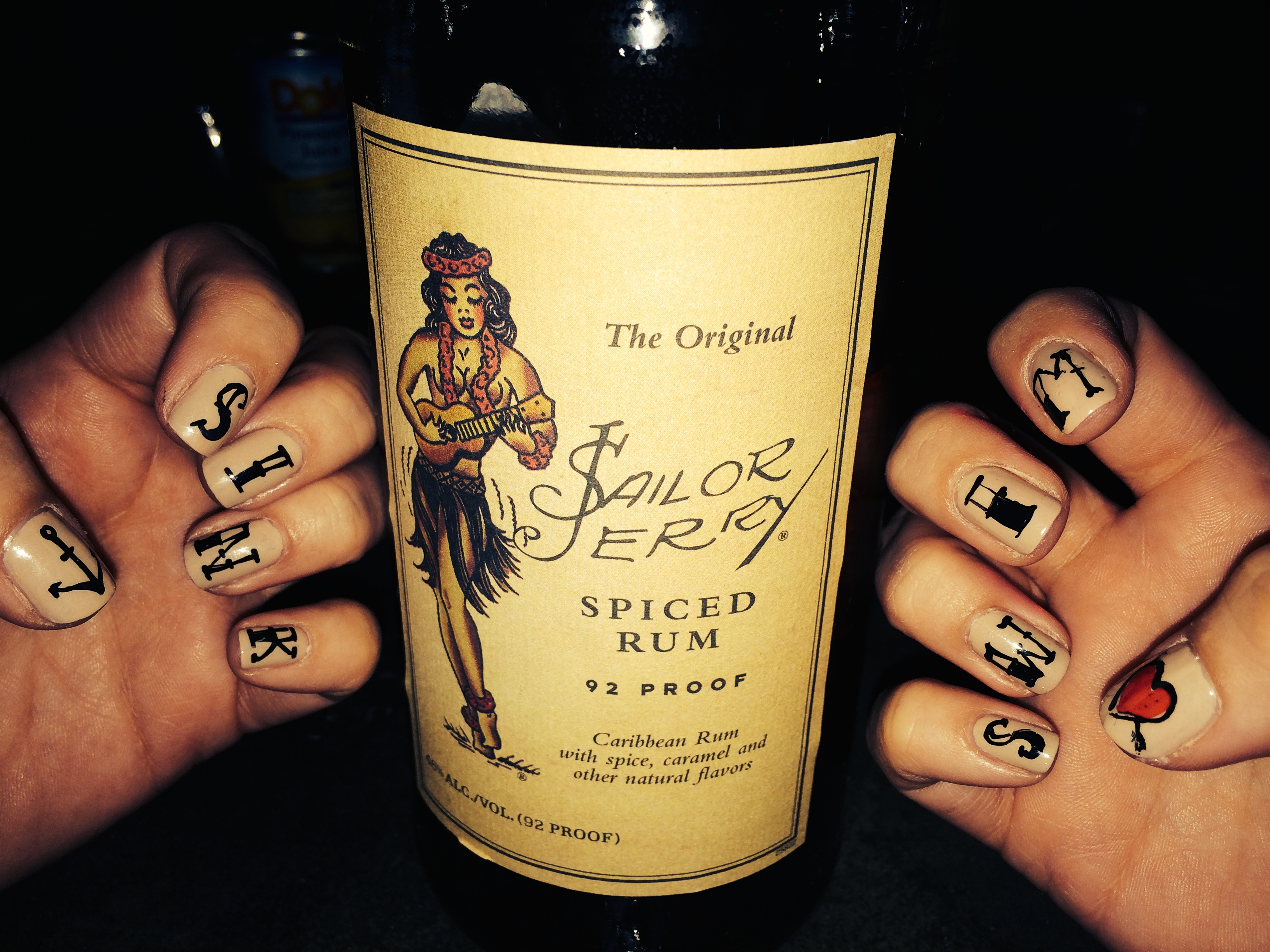 Sailor Jerry nails.
