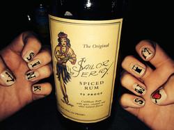 Sailor Jerry nails.