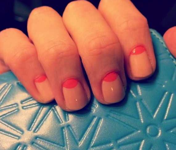 modern 1/2 moon nails.