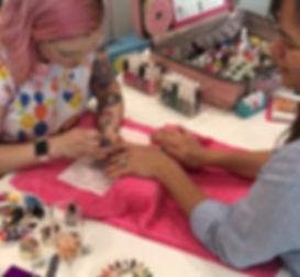 Mspattycake the Dallas rainbow haired nail art concierge