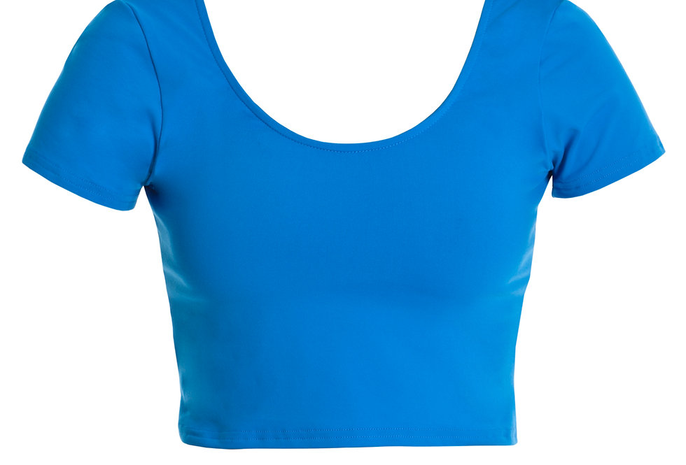 Wide Neck Cropped Tee