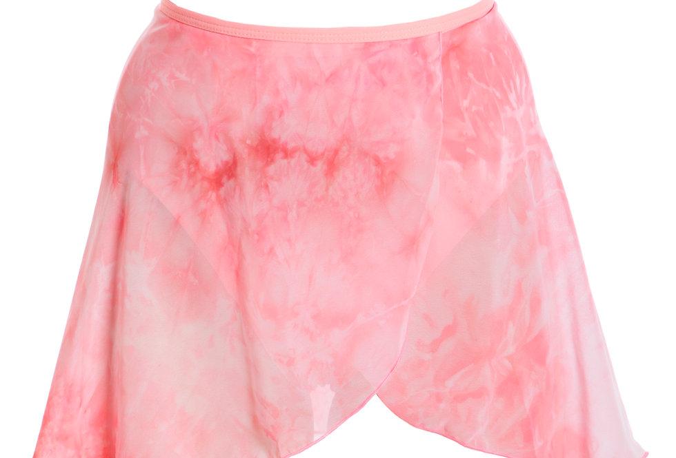 Tie Dye Chiffon Wrap Skirt