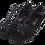 Thumbnail: Ladies Classic Open Toe Dance Sandals in Black