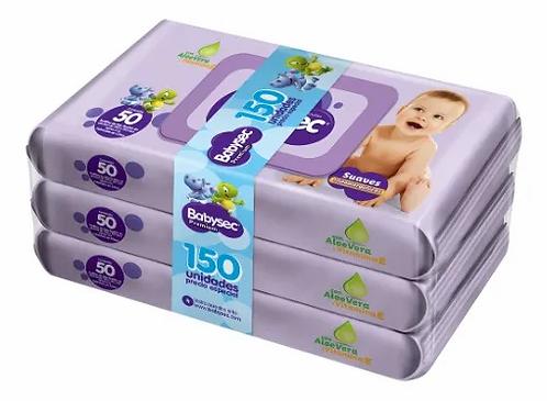 Toallas Humedas Babysec Premium X 3