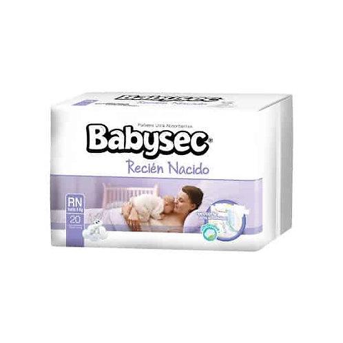 Babysec Recién nacido 20 unidades.