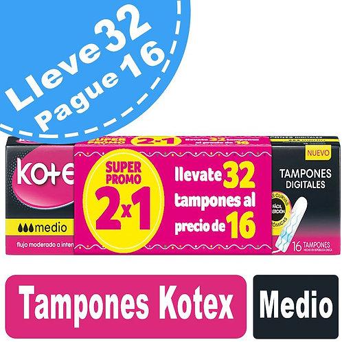 Tampones Kotex Medio x 32