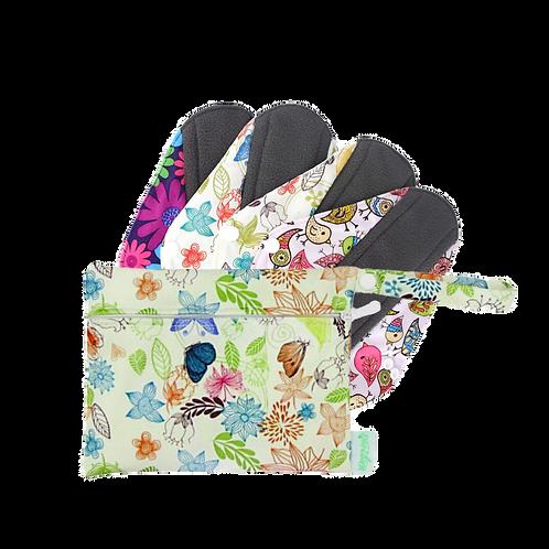 Toallas Femeninas Pack x 4 + Bolsita impermeable de Regalo