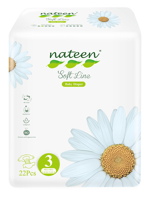 Nateen (biodegradable) Soft Talle 3  22 unidades.