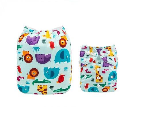 Pack 5 pañales de tela (colores a elección)