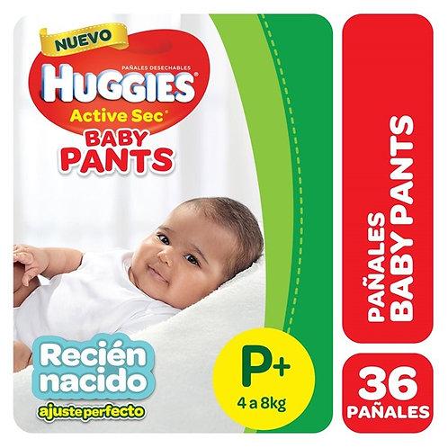 Huggies Active Sec Pants P, 36 unidades