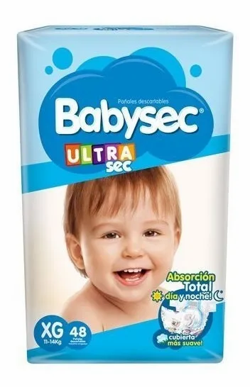 Babysec Ultra XG  48 unidades.
