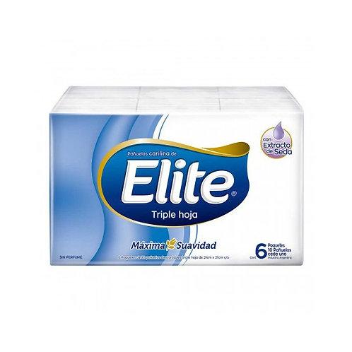 Oferta Pañuelos Elite 6 paquetes x10 unidades