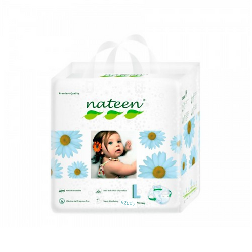 Nateen (biodegradable)  talle L  92 unidades