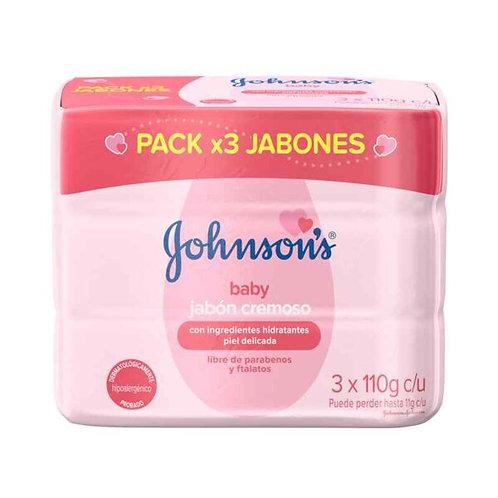 Jabón Cremoso Johonson's 110g x 3