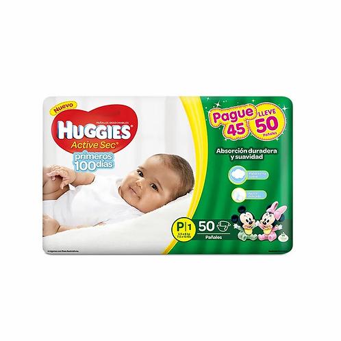 Huggies Active Sec P.  50 unidades.