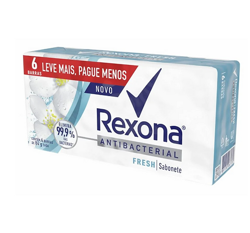 Jabón Rexona Antibacterial Fresh Pack x 6