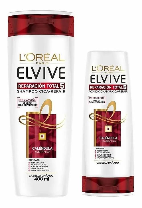 Pack Elvive Reparación Total 5 Shampoo 400ml + Acondicionador 200ml
