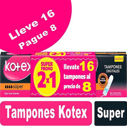 Tampones Kotex Super Lleve 32 Pague 16