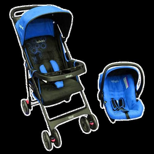 coche+ silla de auto infanti