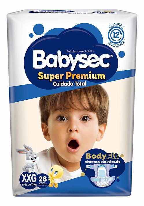 Babysec Super Premium  cuidado total. XXG 28 unidades