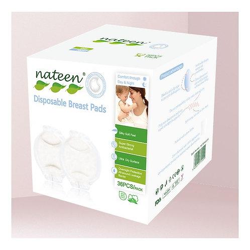 Protector mamario Nateen (biodegradable) 36 unidades.
