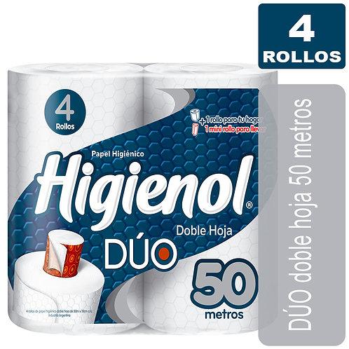 Higienol duo 4 Rollos de 50m Hoja Doble