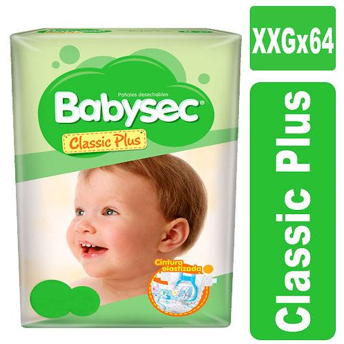 Babysec classic plus XXG x 64 unidades