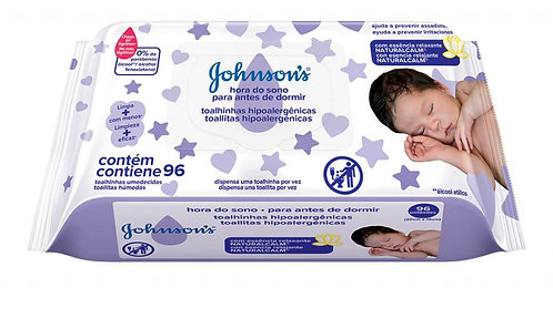Toallitas Húmedas Johnson x 96 Para antes de Dormir