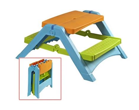 Mesa De Picnic Infantil Plegable Juego De Jardín Para Niños