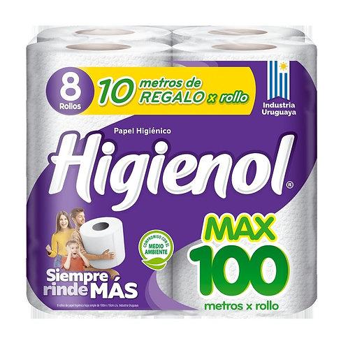 Higienol MAX 100mt 8 Rollos